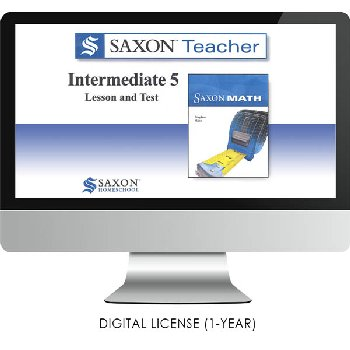 Saxon Math Homeschool Intermediate Teacher Digital License 1 Year Digital Level 5