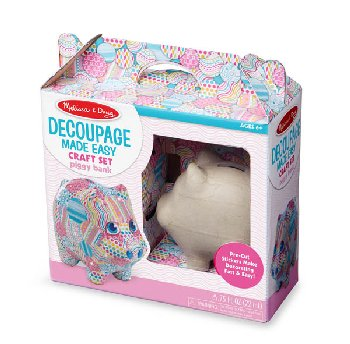 Decoupage Piggy Bank Craft Set