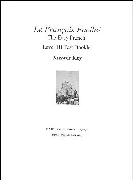 Easy French Level 1B Answer Key