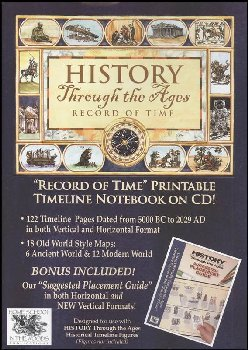 Record of Time Printable Timeline Notebook on CD