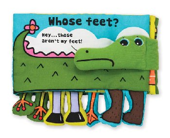 K's Kids Cloth Book - Whose Feet?