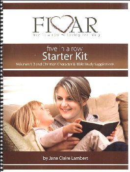 Five in a Row Starter Kit Volumes 1-3 & Christian Character & Bible Study Supplement