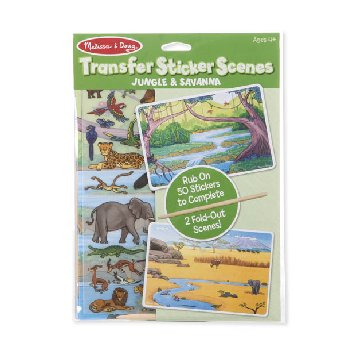 Transfer Sticker Scenes - Jungle & Savanna