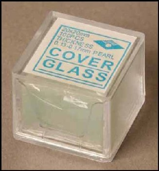 Glass Cover Slips (22 x 22mm - 100)