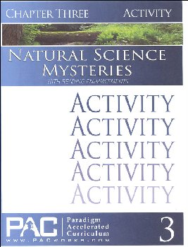 Natural Science Mysteries, Chapter 3, Activities