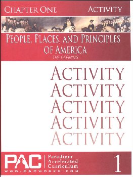 People, Places, and Principles of America Chapter 1 Activities