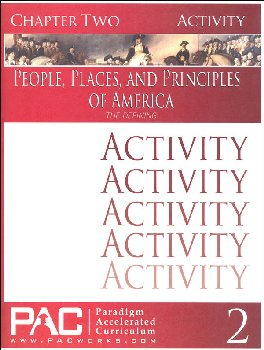 People, Places, and Principles of America Chapter 2 Activities