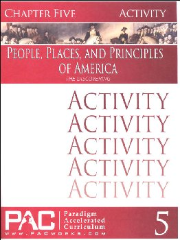 People, Places, and Principles of America Chapter 5 Activities