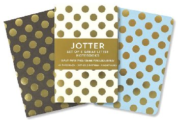 Jotters Mini Notebooks - Gold Dots (set of 3)