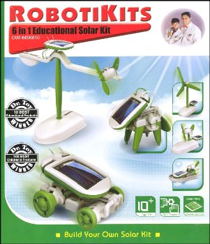 6 in 1 Educational Solar Kit - Robotikits