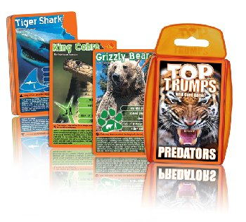Top Trumps Card Game - Predators