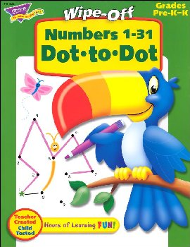 Numbers 1-31 Dot-to-Dot Wipe-Off Book