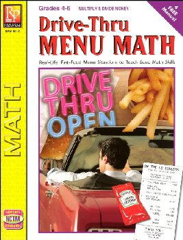 Drive-Thru Menu Math - Multiply & Divide Money