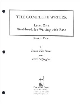 Complete Writer: Writing With Ease Level 1 Student Pages