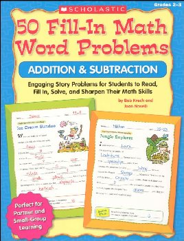 50 Fill-In Math Word Problems - Addition & Subtraction