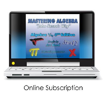 Mastering Algebra - Algebra 1/2 3rd Edition Online Video Access (24-month subscription)