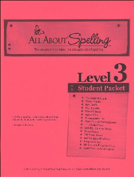 All About Spelling Level 3 Student Material Packet