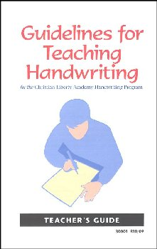 Guidelines for Teaching Handwriting (For all 4 books)