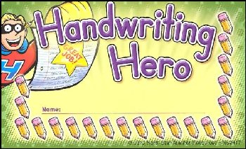 Handwriting Hero Incentive Punch Card
