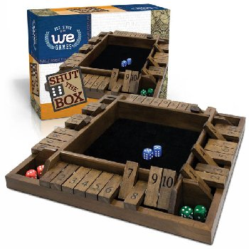Shut The Box - 4 Player Game - Travel Size