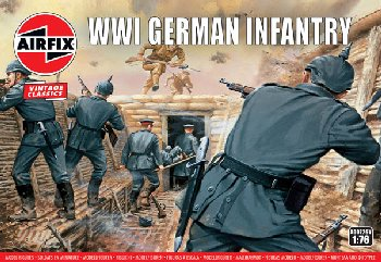 WWI German Infantry Figures (1:76 Scale)