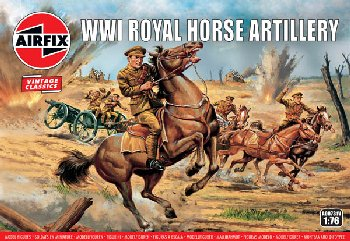 WWI Royal Horse Artillery Figures (1:76 Scale)
