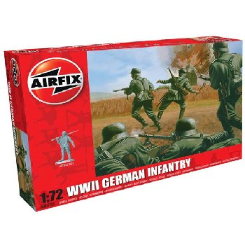 WWII German Infantry Figures (1:76 Scale)