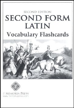 Second Form Latin Flashcards