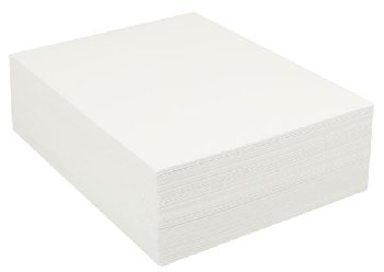 "Heavyweight Bright White Sulphite Drawing Paper 9""x12"" - 500 Sheets"