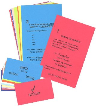 Winston Grammar Advanced Level Clue Card Set
