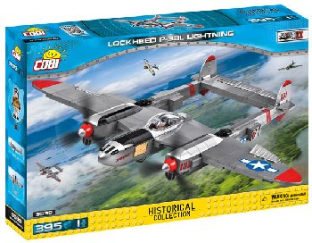 Lockheed P-38L Lightning - 395 pieces (Small Army WW II  Planes)