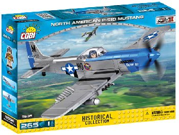 Mustang P-51D - 265 pieces (Small Army World War II Planes)