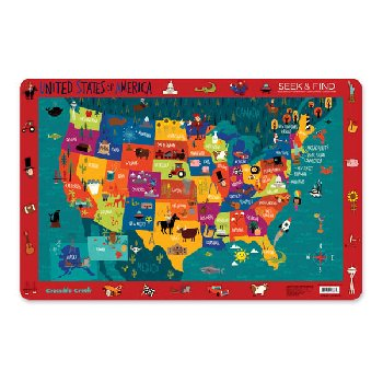 United States of America Seek & Find Placemat (Eat & Learn Placemats)