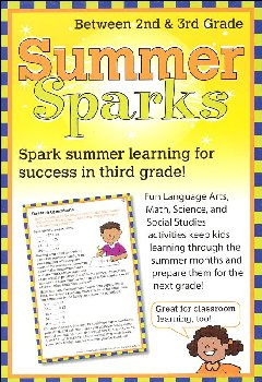 Summer Sparks Activity Cards - Between Grades 2 and 3