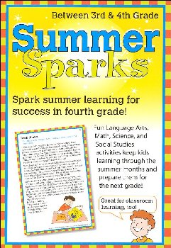 Summer Sparks Activity Cards - Between Grades 3 and 4