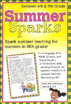 Summer Sparks Activity Cards - Between Grades 4 and 5