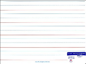 "Magnetic Red & Blue Ruled/Dry Erase (Dual Sided) - 9"" x 12"""