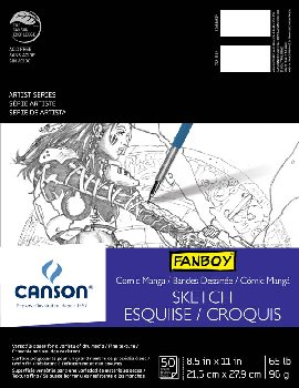 "Canson Comic/Manga Sketch Paper (8.5"" x 11"") 50 sheets"