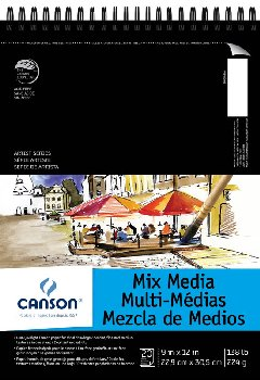 "Canson Mix Media Art Pad (9"" x 12"") 20 sheets"