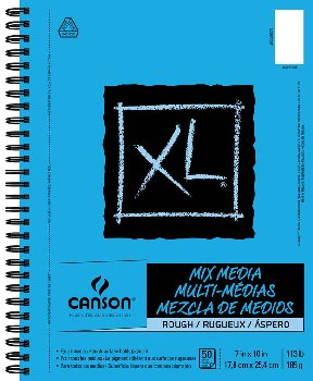 "Canson XL Mix Media Rough Art Pad (7"" x 10"") 50 Sheets"
