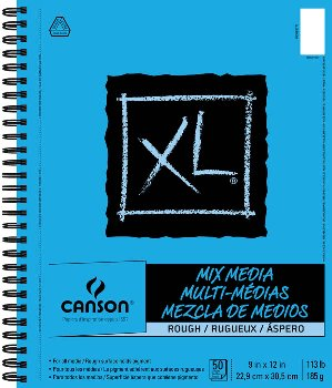 "Canson XL Mix Media Rough Art Pad (9"" x 12"") 50 Sheets"
