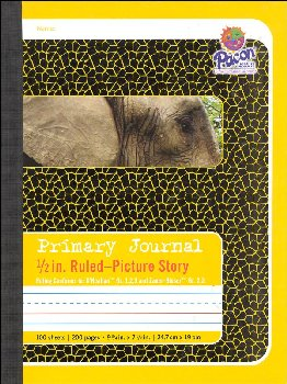"Composition Book - D'Nealian (1-3), Zaner-Bloser (2-3) 1/2"" Ruled, Picture Story"