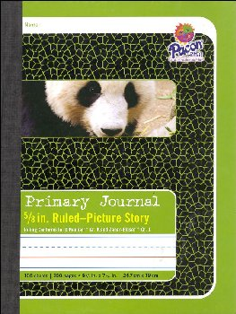 "Composition Book - D'Nealian (K), Zaner-Bloser (1) 5/8"" Ruled, Picture Story"