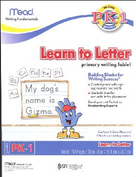 Learn to Letter Primary Writing Tablet