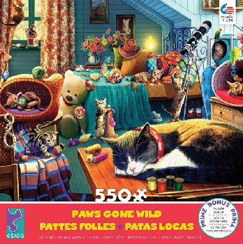 Kitten Play (Paws Gone Wild Puzzle) 550 Piece