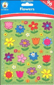 Flowers Shape Stickers (96 stickers)