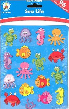 Sea Life Shape Stickers (96 stickers)