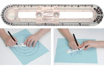 Triman Compass/Ruler (Solid Opaque)