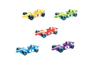 Sing, Spell, Read and Write Level 1 Raceway Cars Static Clings (5)