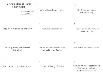 Famous Men of Rome Flashcards